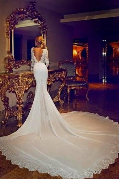 white lace wedding dress tumblr
