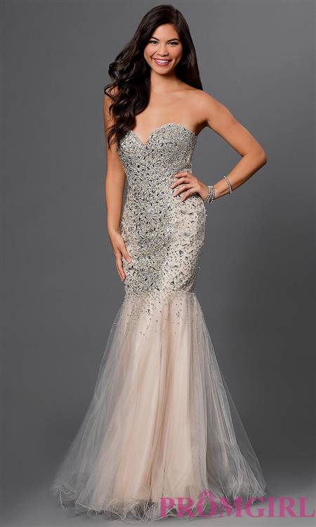 white mermaid prom dresses