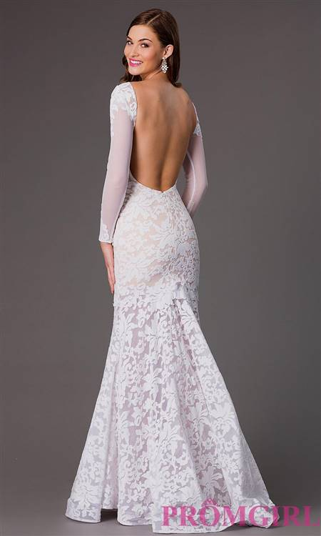 white sparkly mermaid prom dresses