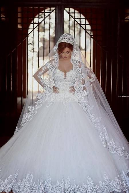 white wedding dresses with diamonds and lace