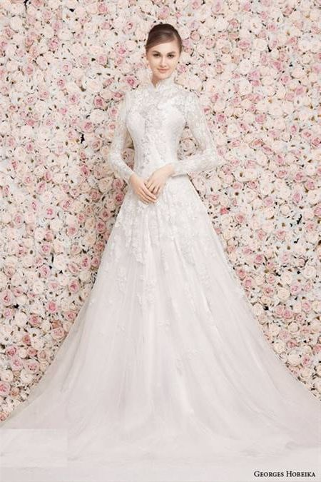 women's wedding dresses with sleeves