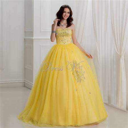 yellow gowns for debut