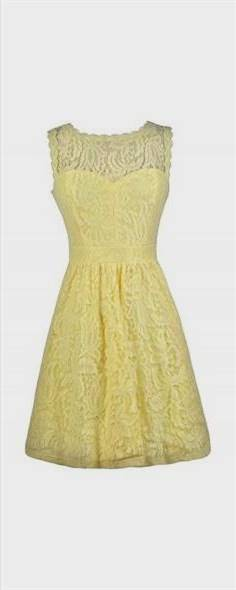 yellow lace bridesmaid dresses