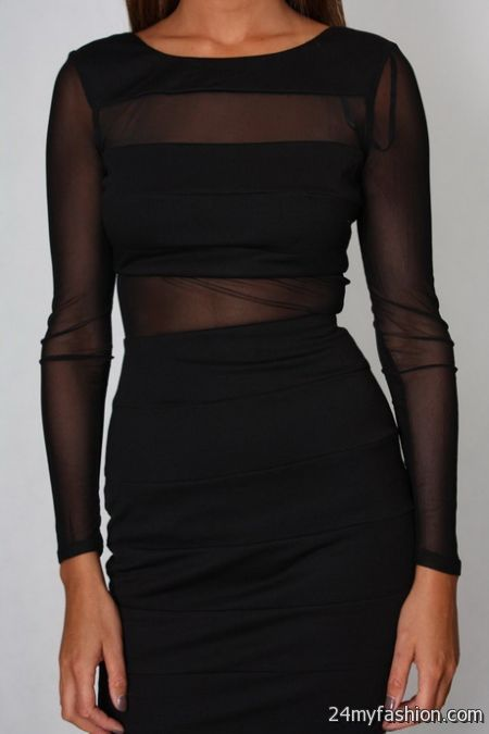 Black dress with sheer sleeves review