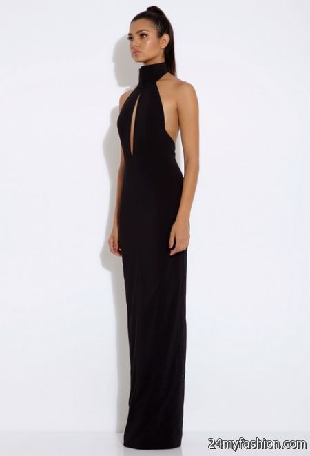 Black halter neck maxi dresses review