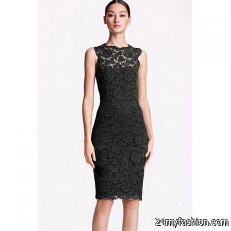 Black lace sheath dress review