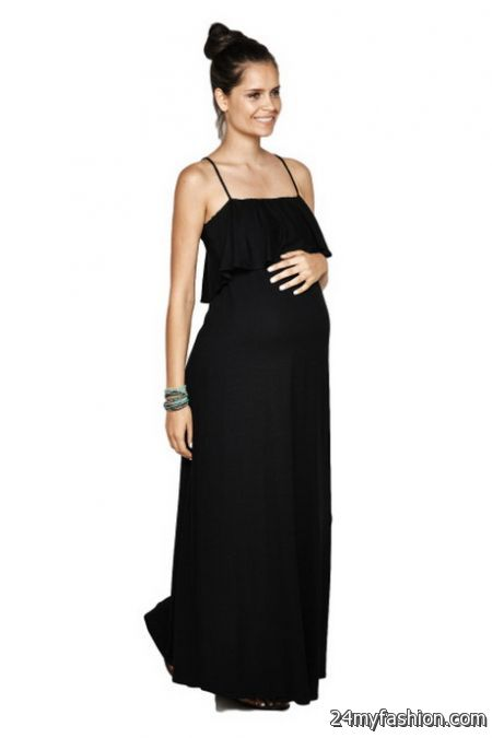 Black maternity maxi dresses review