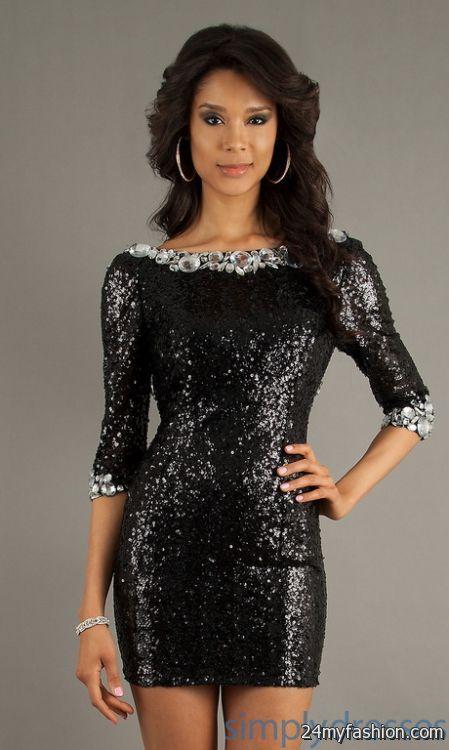 Black sequin cocktail dresses review