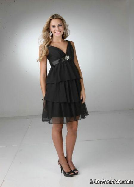 Black short bridesmaid dresses review