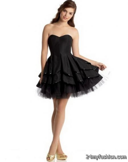 Black short homecoming dresses review
