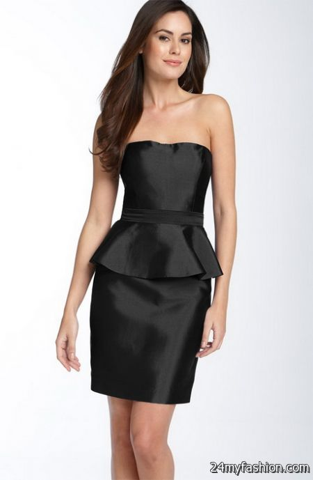 Black strapless cocktail dress review