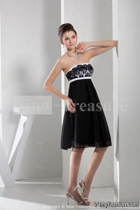 Bridesmaid dresses black and white review