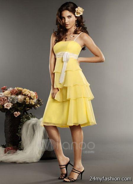 Bridesmaid dresses yellow review