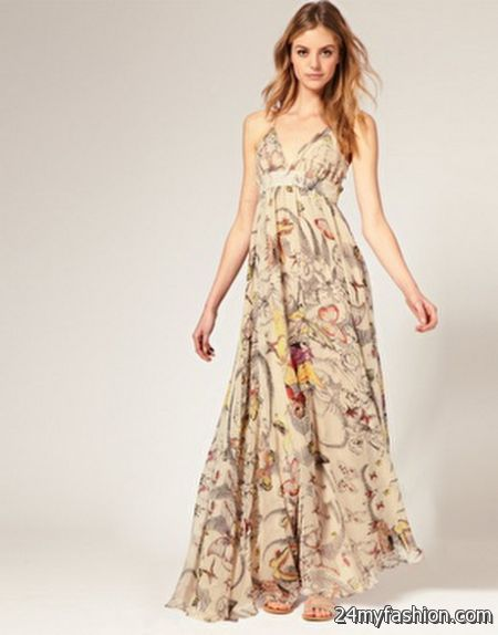 Butterfly print maxi dress review