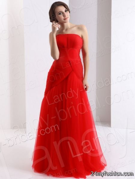 Evening red dress review