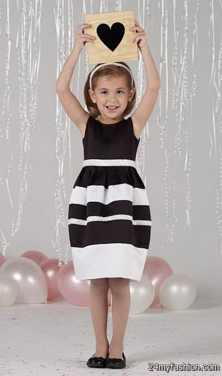 Girls black and white dress review