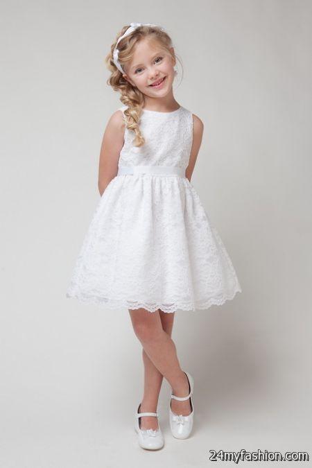 Girls white summer dress