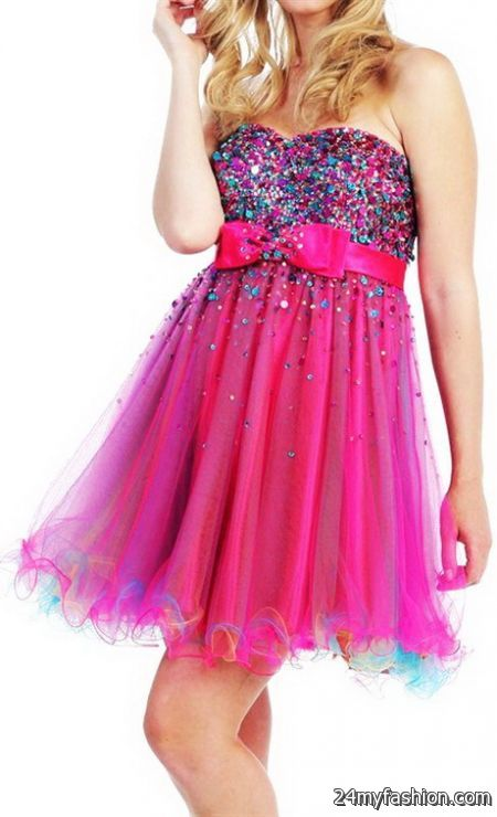 Glitter homecoming dresses