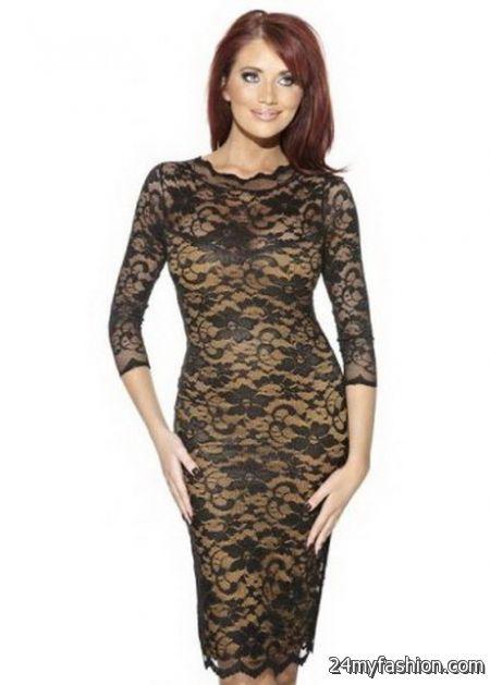 Gold lace dresses review