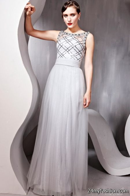 Gray formal dresses