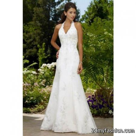 Halter beach wedding dress review