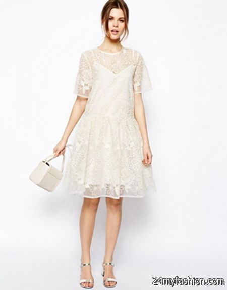 Lace smock dress review