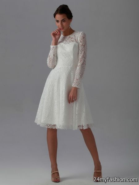 Lace white dress long