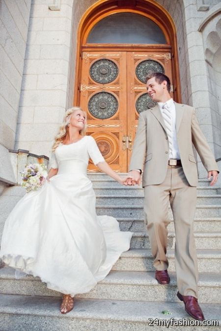 Lds temple wedding dresses review