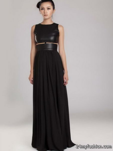 Leather evening gowns