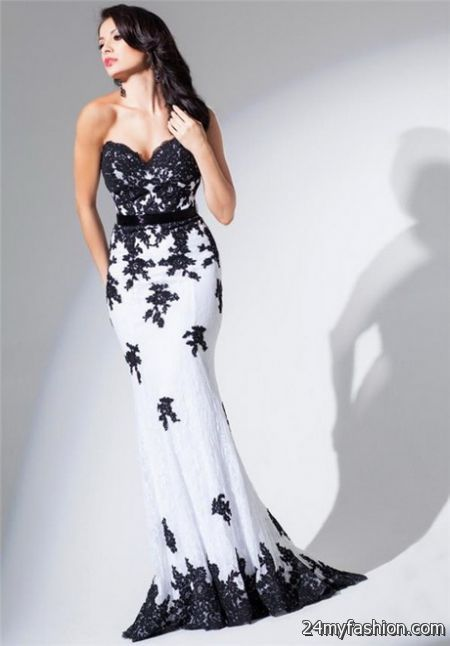 Long black and white dresses review