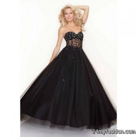 Long black ball dresses