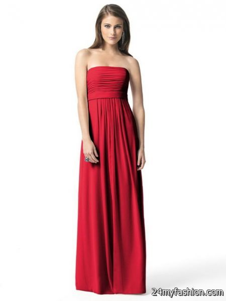 Long red bridesmaid dresses review