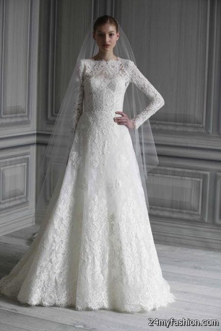 Long sleeved lace wedding dresses review