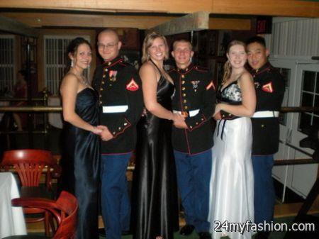 Marine ball dress