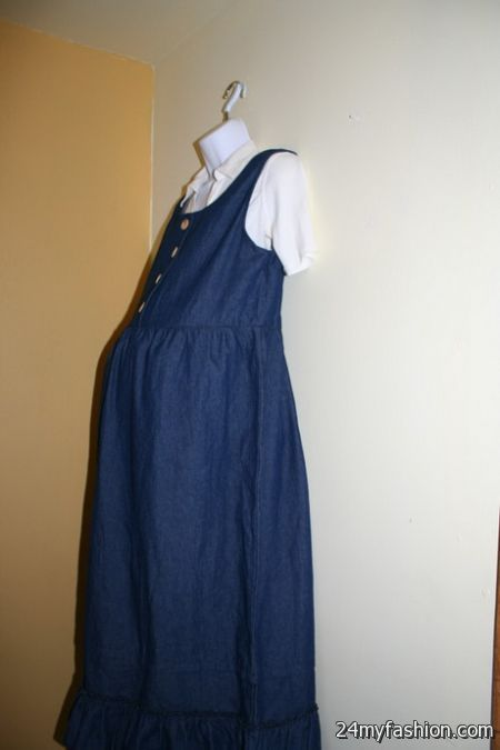 Maternity denim dress review