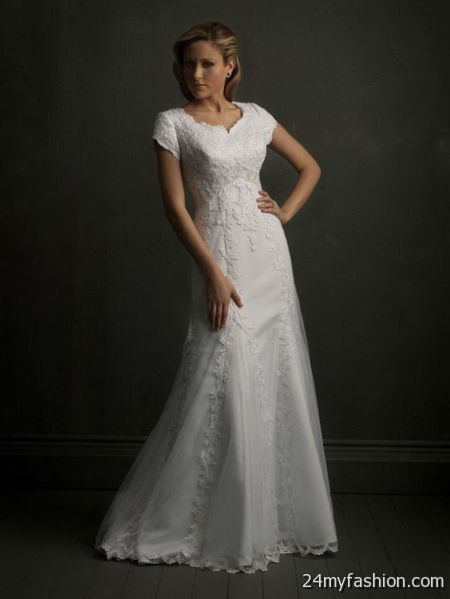 Modest bridal gowns with sleeves