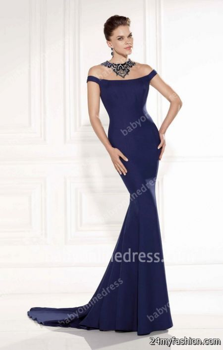 Navy blue ball gowns