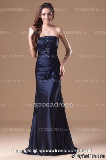 Navy blue evening gowns review