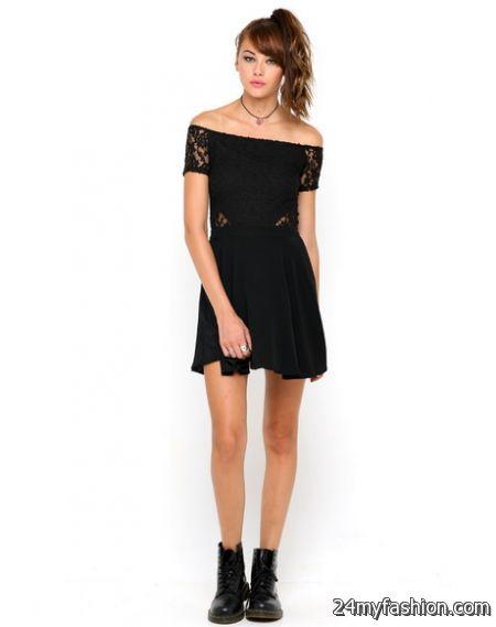 Off shoulder lace dress