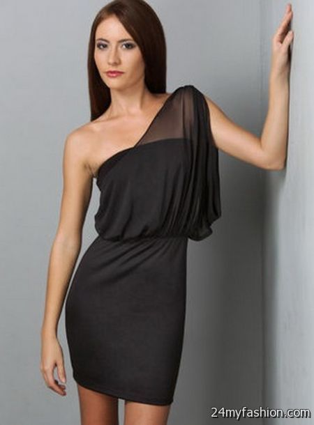 One shoulder black cocktail dress review