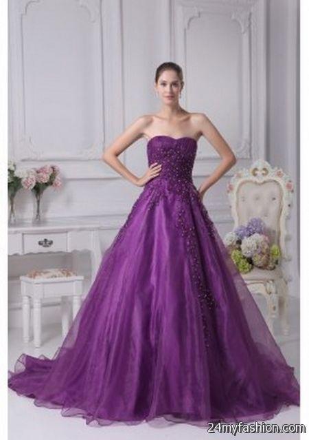 Purple bridal gowns