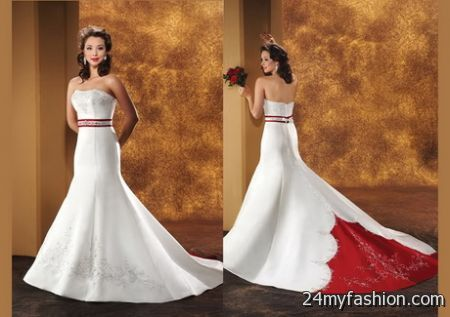 Red and white bridal gowns review