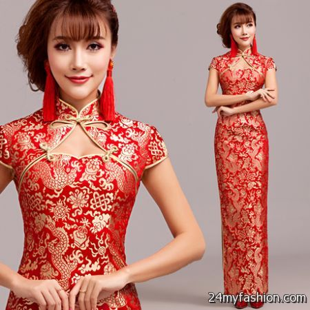 Red chinese dress review