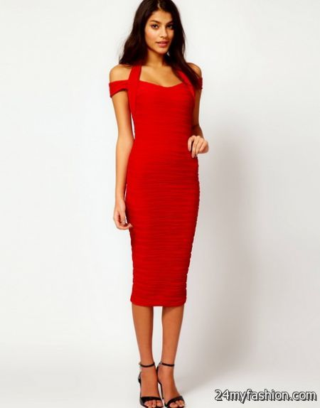 Red christmas dress for women