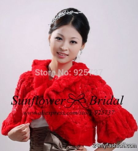 Red shrugs for dresses