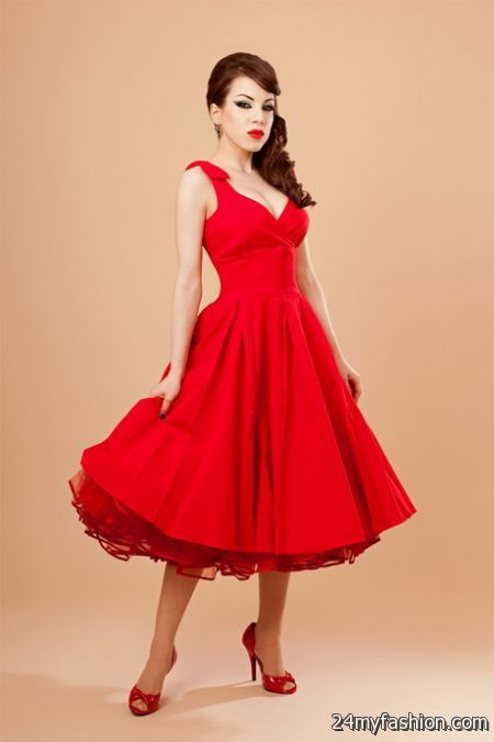 Retro red dress review