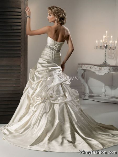 Satin wedding gowns review