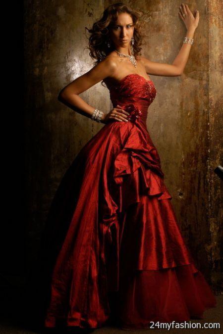 Silk ball gowns