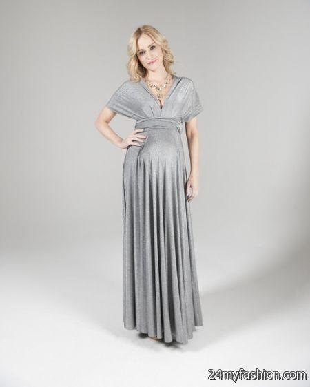 Silver maternity dress
