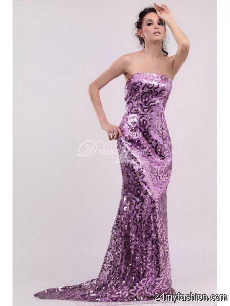 Sparkly evening dresses